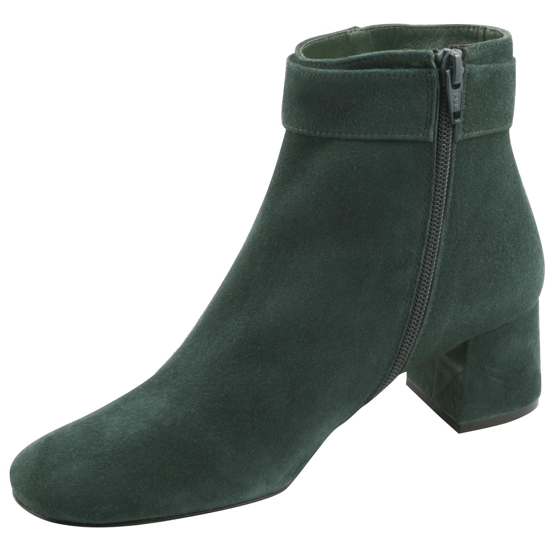 ... Bottines-en-cuir-mutine-couleur-verte ...