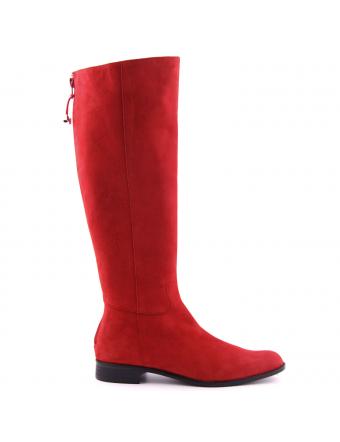bottes-femme-kim-nubuck-rouge-1