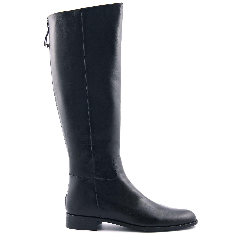 bottes femme cuire noire