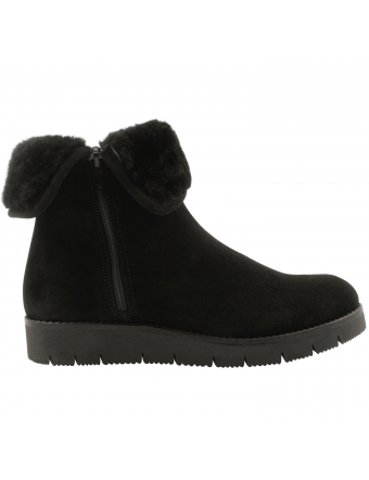 Chaussures-fourrees-femme-nubuck-noir-Sibeal