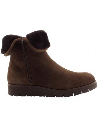 Boots-fourrees-femme-Sibeal-nubuck-marron