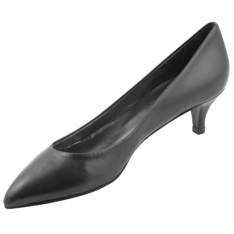 5a8a29aafbb902 Escarpins petit talon Lolita en cuir de qualité couleur noir