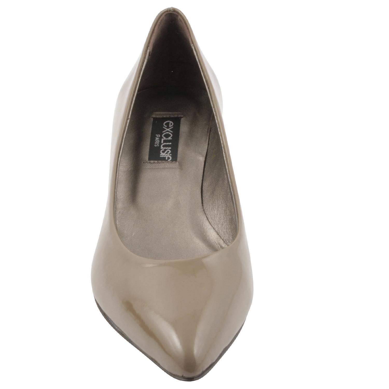 85874c460b96db Chaussures à petit talons Lolita en cuir de qualité noir - Exclusif