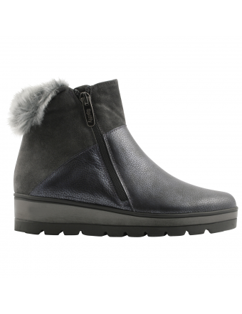 Boots-fourrées-femme-cuir-plomb-Artic