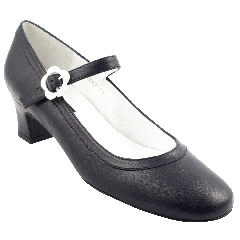 5796730c0f57ca Chaussure italienne femme Soprano en cuir marine - Exclusif