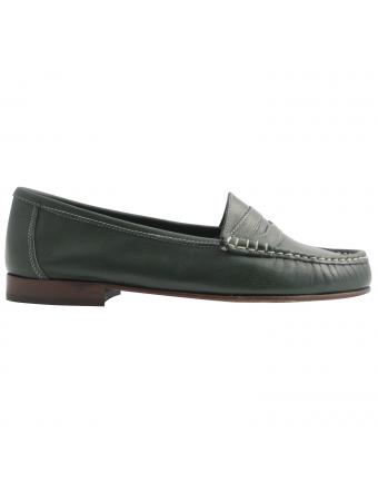 Chaussure-cuir-vert-riviera