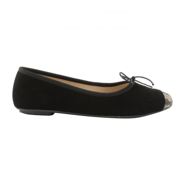 chaussures-plates-nubuck-noir-python-roma-1