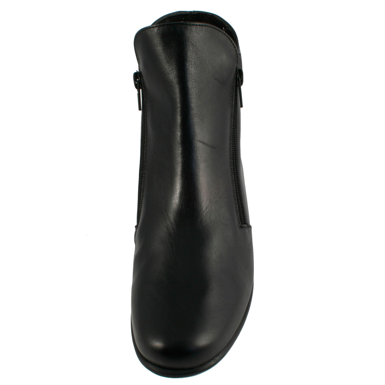 eeb2bca8a1286e Bottine femme noir Janic en cuir de qualité - Exclusif