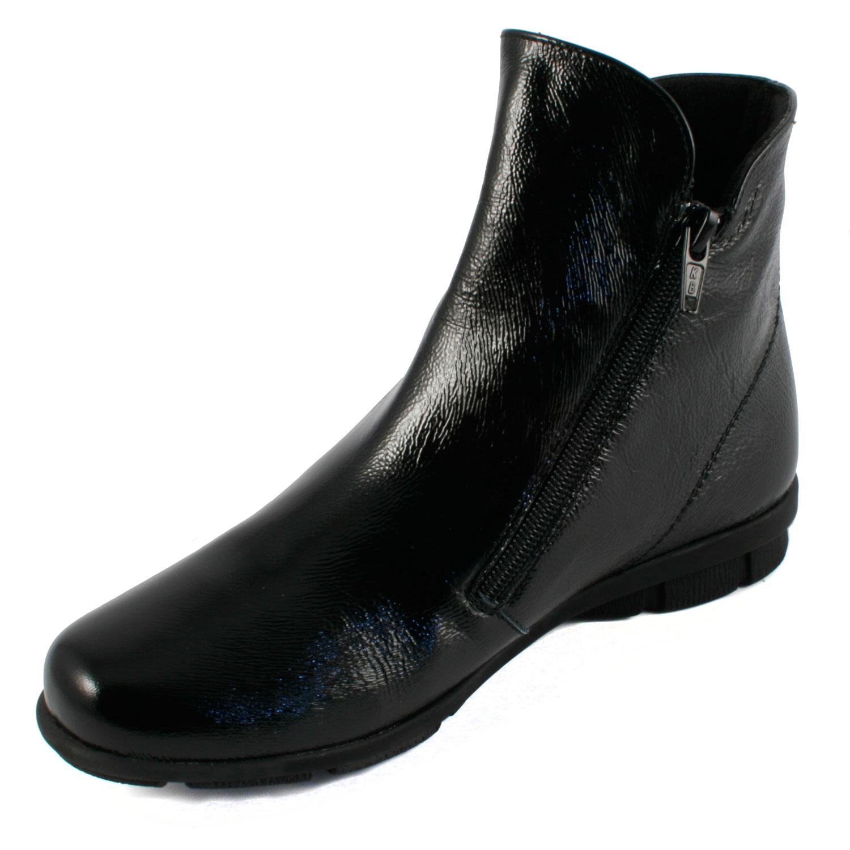 2018 sneakers outlet on sale classic fit Bottines vernis noir Janic en cuir de qualité - Exclusif Paris