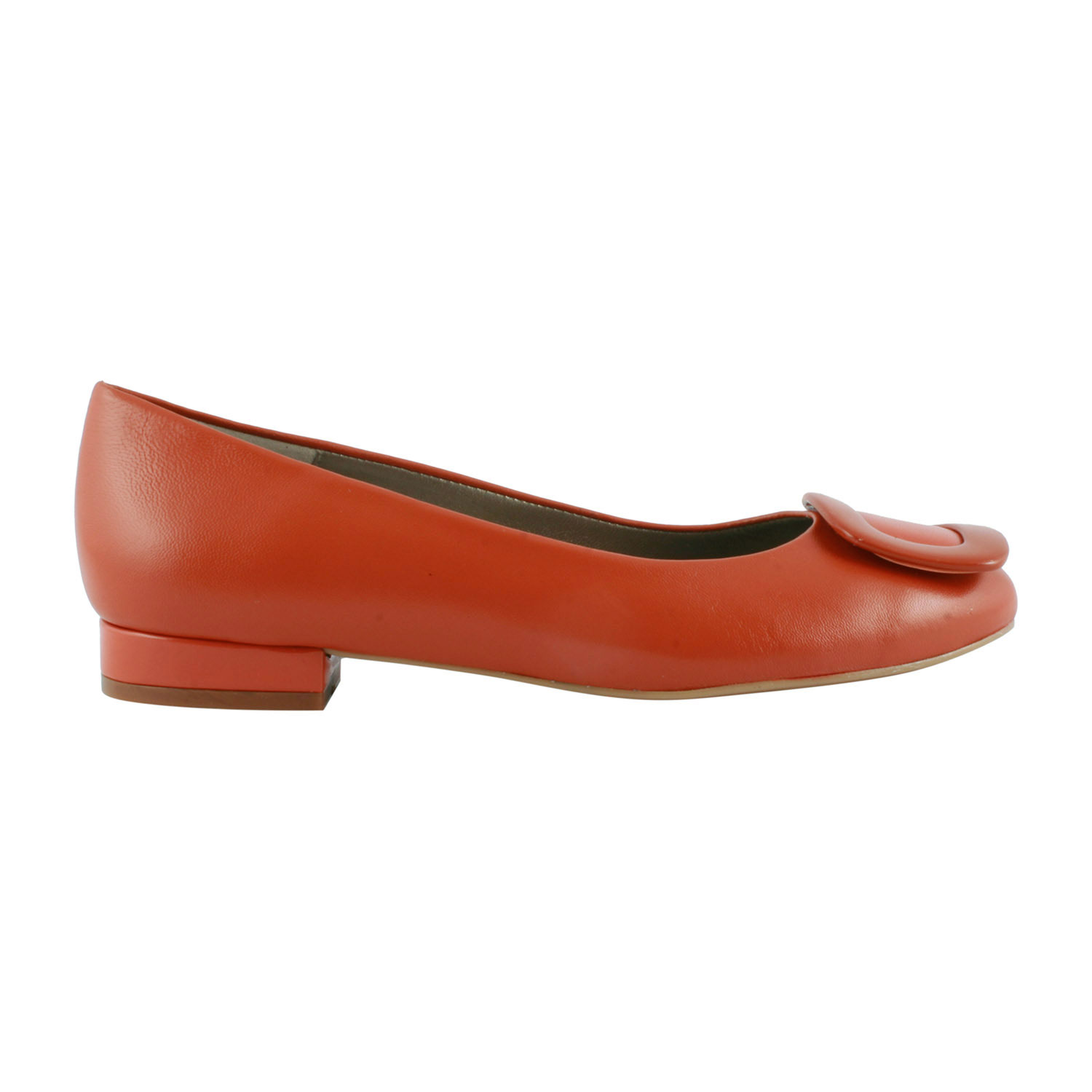 Ballerine-Cuir-Orange-Cardinal