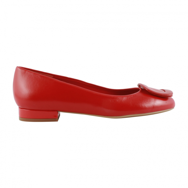 Ballerine-Rouge-Cuir-Cardinal