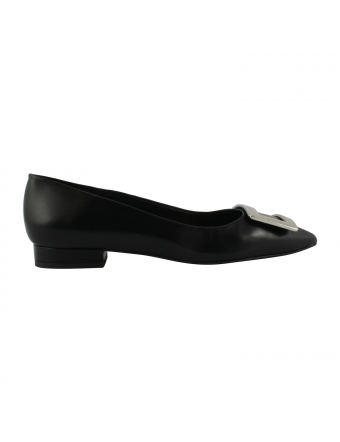 Ballerines-Noires-Pointues-Cuir-Luana