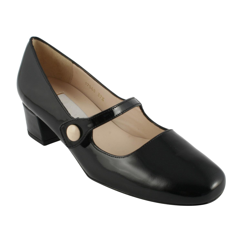 Vernis En Exclusif Babies Perla Noir Chaussures Cuir k80wPnO