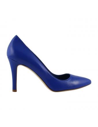 Chaussure-Escarpin-Cuir-Bleu-Royal-Kate