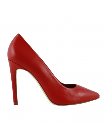 Escarpin-Cuir-Rouge-Femme-Cherry