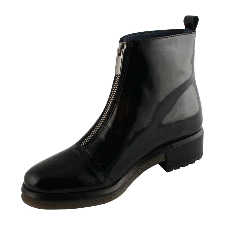 6bf5d975f98ee Boots pour femme à semelle épaisse en vernis noir - Exclusif Paris