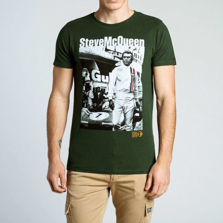 a5e365859f6f Tee-shirt de la marque Hero Seven à l effigie de steve mcqueen !