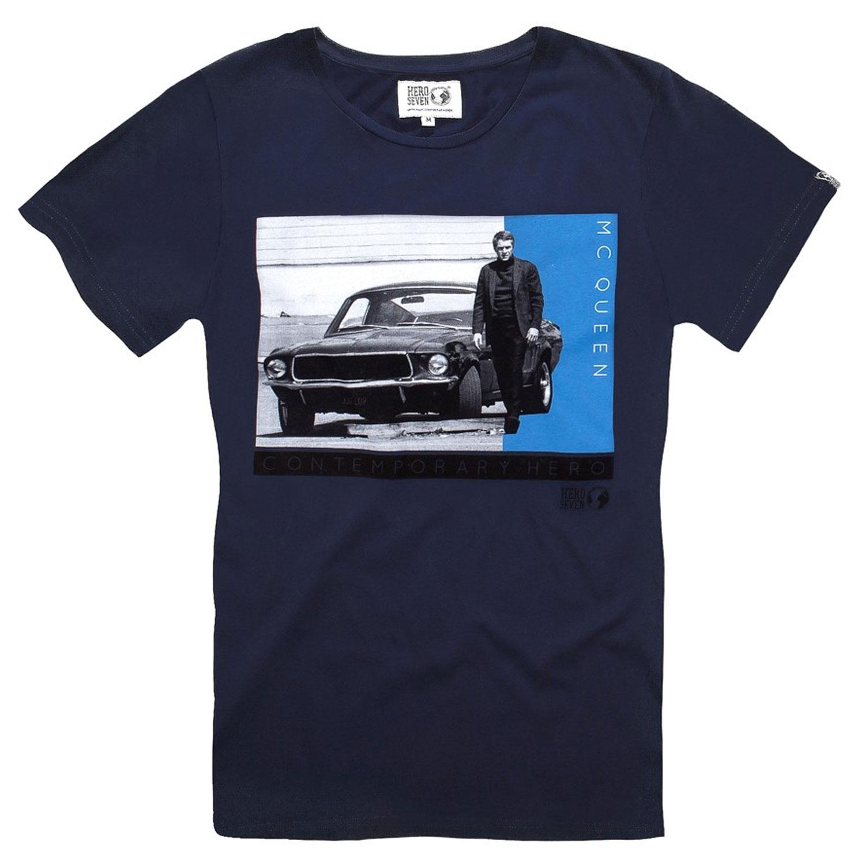 Tee-Shirt-Homme-Coton-Hero-Seven-Mustang68