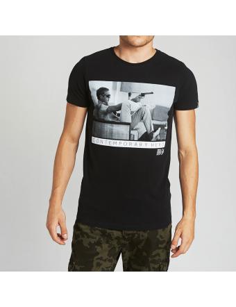 Steve-Mcqueen-T-Shirt-Coton-Black-Gunsofa