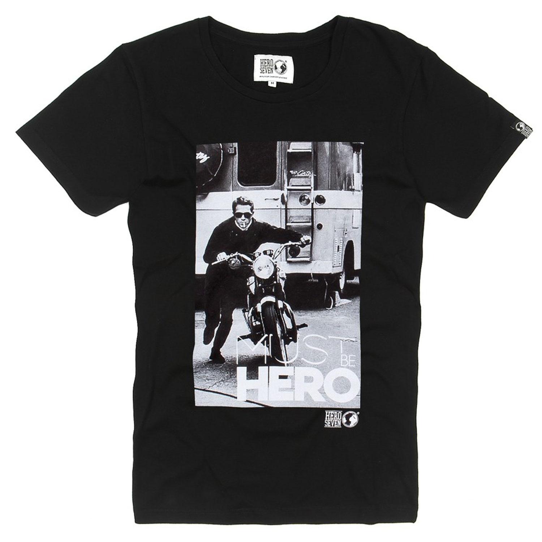 T-Shirt-Moto-Coton-Blanck-Kickstart