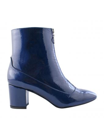 Bottines-Cuir-Vernis-Bleu-Femme-Austin