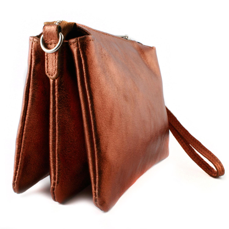 1aa43602f0 Sac en cuir pour femme bandoulière amovible en cuir bronze - Exclusif