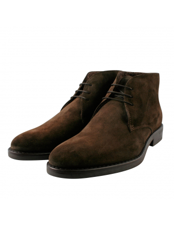 Bottines-Nubuck-Marron-Fourrées-Homme-Everest