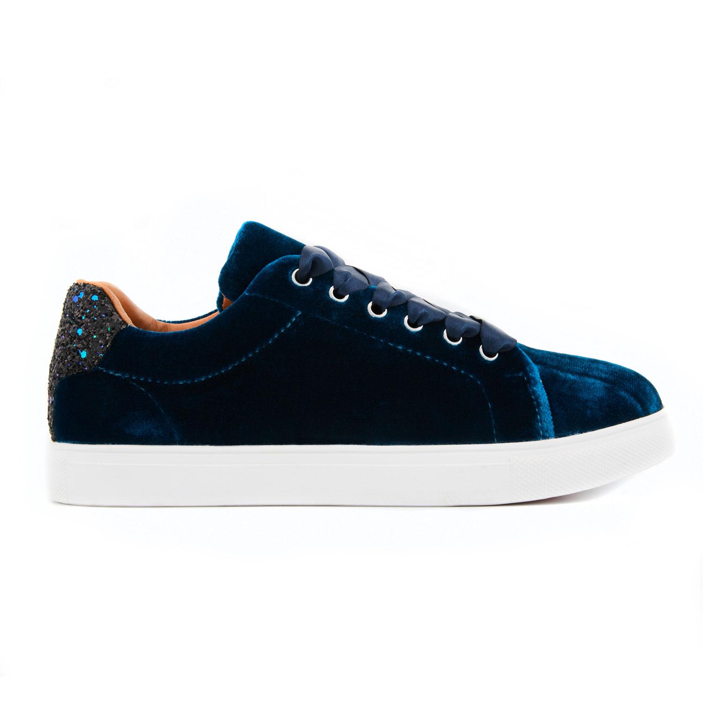 professional sale entire collection detailed images Basket en velours couleur bleu de la marque Bons Baisers de ...