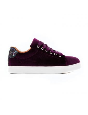 Chaussures-Femme-Velours-Aubergine-Simone