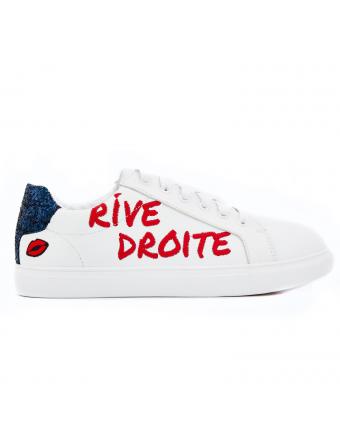 Rive Droite/Gauche-Cuir-Blanc-Bons-Baisers