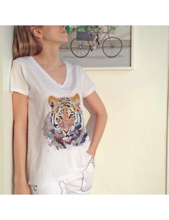Tigre-Coton-Blanc-Five