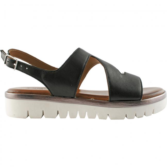 sandales-noires-femme-plates-cuir-Jacinthe