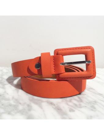 Ceinture-Colorée-Cuir-Orange