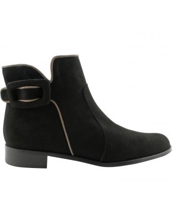 Boots-Femme-Cuir-Noir-Dalya-Exclusif-Paris