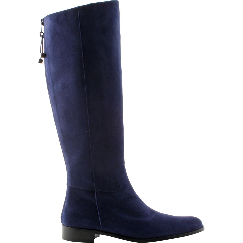 nouveau produit 66ea9 4139f Bottes femme en cuir Kim en veau velours bleu marine ...