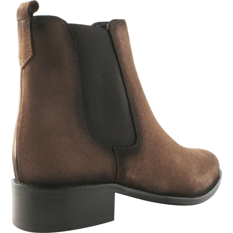 chaussures de sport 9b714 20c1d Bottines Chelsea Boots Nubuck Daim Marron Camel femme ...