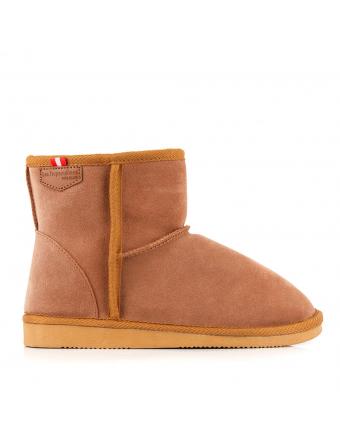 Boots-Femme-Fourrées-Nubuck-Camel-Flocon
