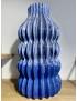 Vase Kilim H34.5 Bleu
