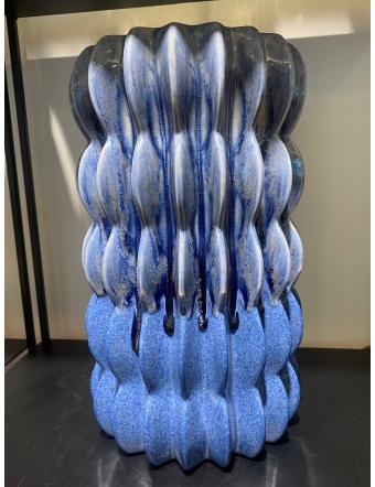Vase Kilim H38 Bleu