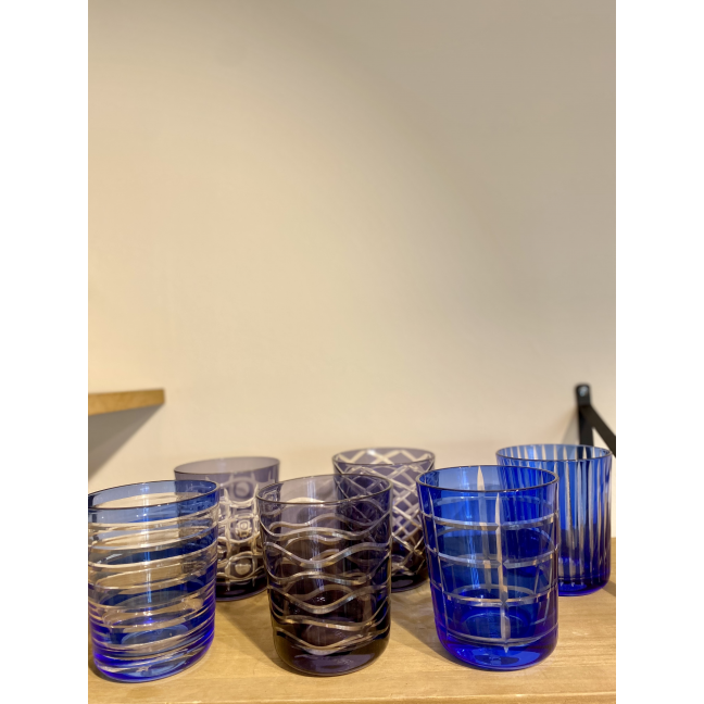 Lot de 6 verres à eau Cobalt