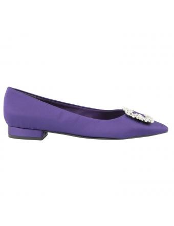 Ballerine-bout-pointu-satin-violet-1