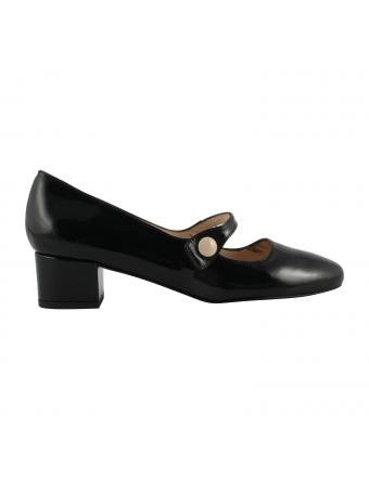 Chaussures-Babies-Cuir-Vernis-Noir-Perla-Exclusif-Paris