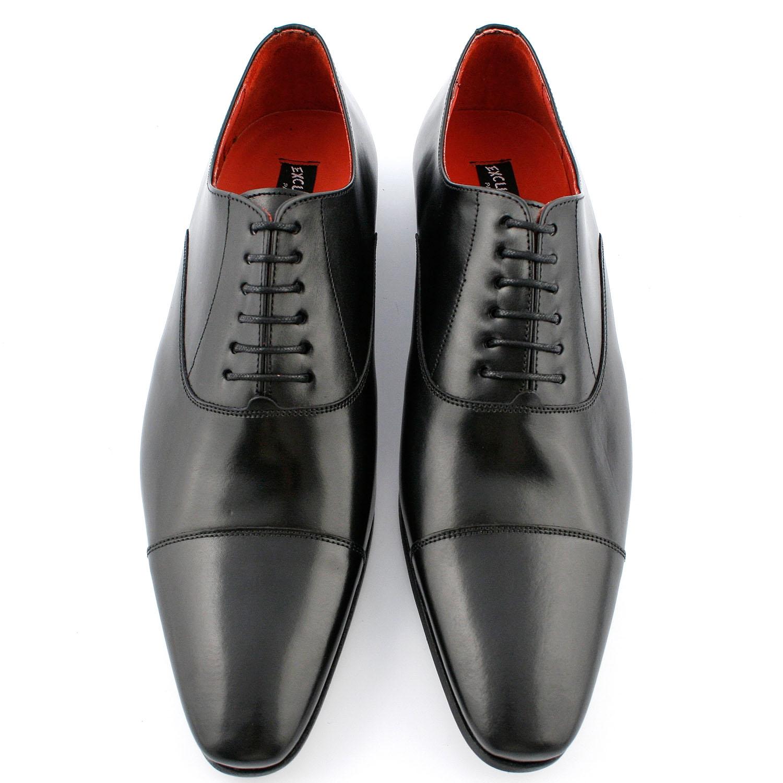chaussure italienne coppola en cuir lisse noir exclusif. Black Bedroom Furniture Sets. Home Design Ideas