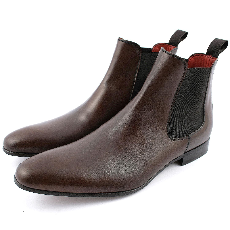 belle qualité nouvelle collection grande vente de liquidation Bottines homme Fats en cuir de qualité marron - Exclusif