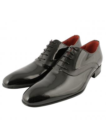 chaussure-de-ville-homme-mickey-noir-vernis-1