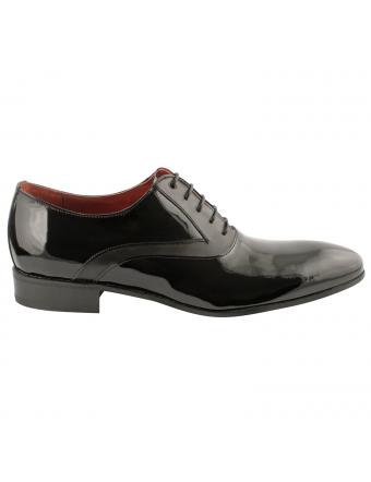 chaussure-de-ville-homme-mickey-noir-vernis-4