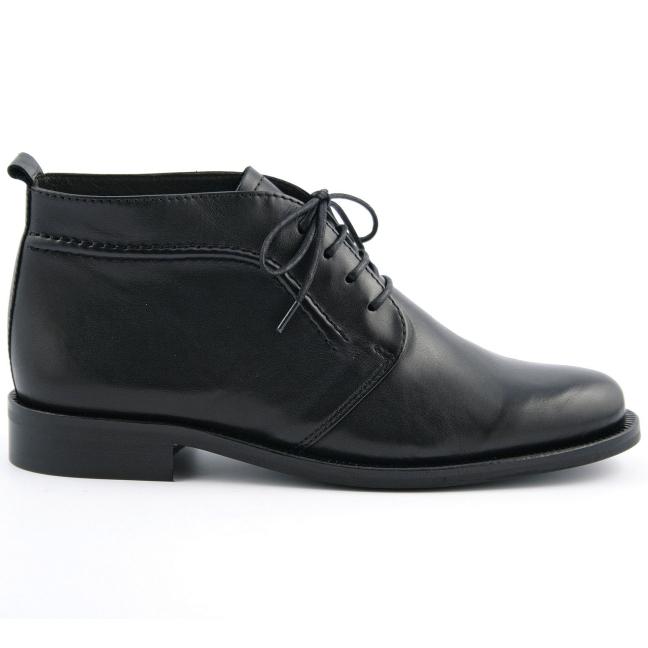 73f1f5d597b63 Bottines a lacets Taboo en cuir de qualité noir - Exclusif