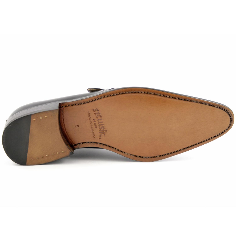 71fb83f7b6f7e Chaussure homme luxe Oxford en cuir de qualité noir - Exclusif