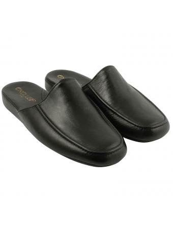 Chausson-homme-tout-cuir-noir-confort-1
