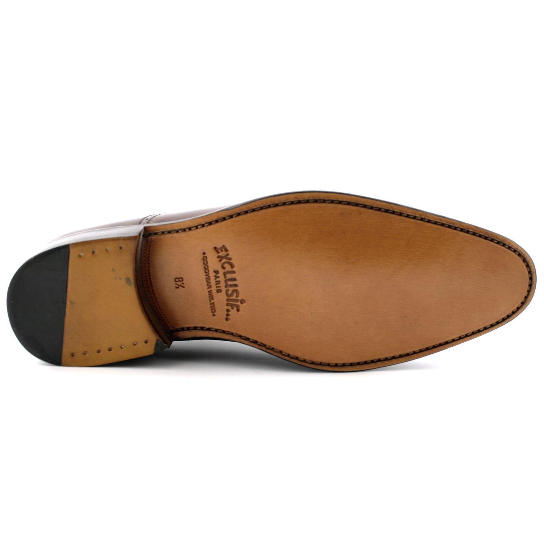 Chaussure homme luxe Russel en cuir de qualité marron - Exclusif 55b89a7f1ee7
